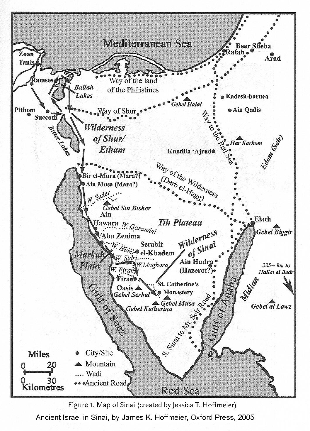 Map Israels Exodus from Egypt and Entry into Canaan